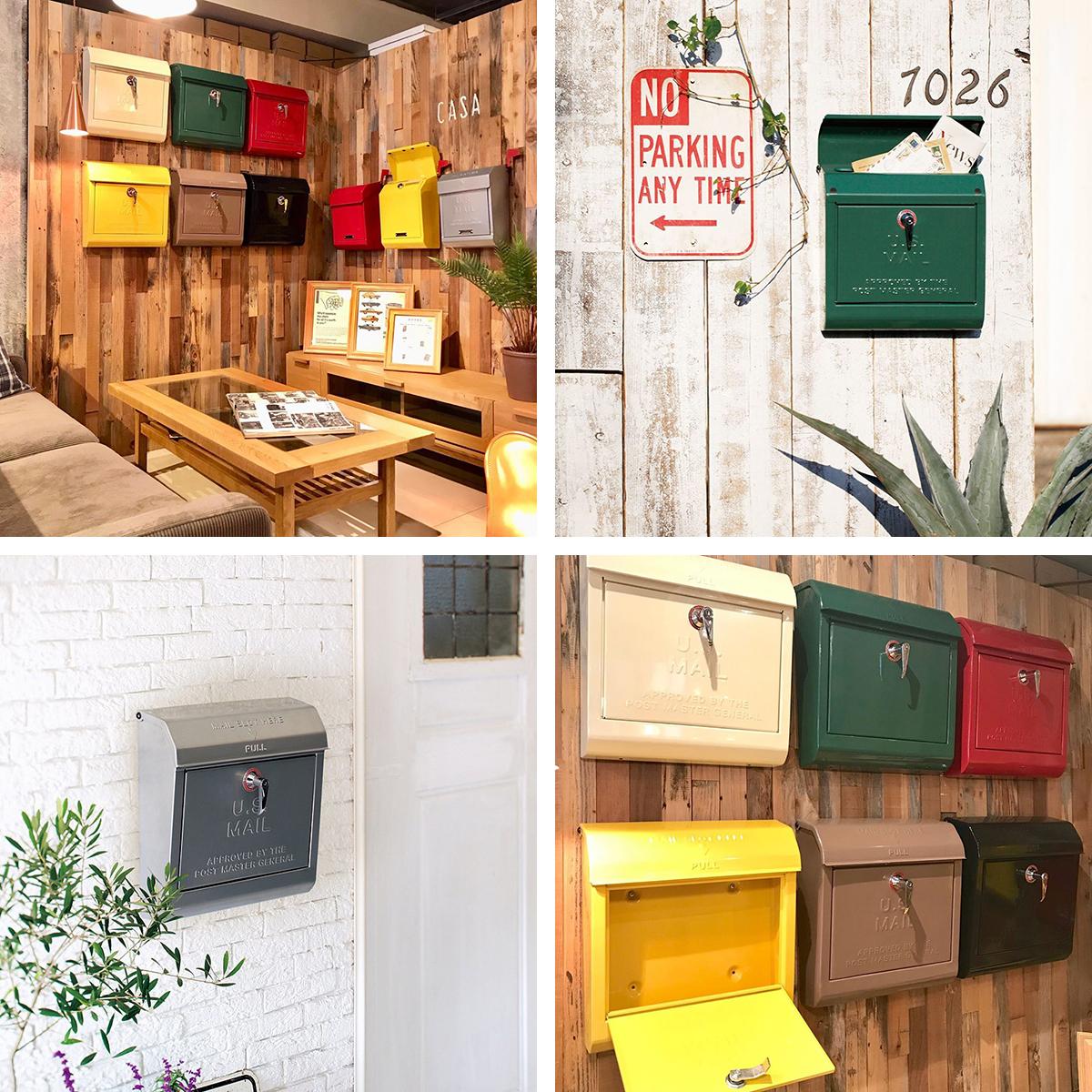 アメリカンデザインのレトロなメールボックス!